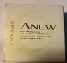 AVON Anew Age-Transforming 2-in-1 Compact Foundation Medium Beige~ New - $31.68