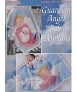 Guardian Angel Baby Afghans, Leisure Arts Crochet Granny Squares Pattern... - $5.95