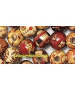 500 Assorted Artwood(Hemp) Beads 12mm - $9.29