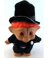 Ace Novelty Troll GROOM Formal in Black Tuxedo Bow Tie Hat Orange Hair D... - $12.86