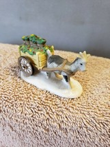 Christmas Village Accessory Department 56 Donkey Pulling Flower Cart - $15.83