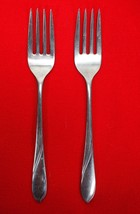 2X Salad Dessert Forks Gorham Silver Lisa Stainless Glossy Flatware 6 5/... - $15.84