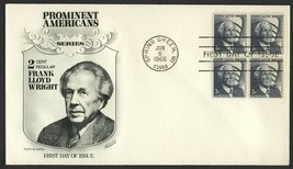 #1280 2c Frank Lloyd Wright, Fleetwood [4] FDC **ANY 4=FREE SHIPPING** - $1.00