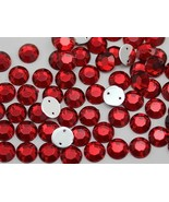 8mm SS40 Red Ruby H103 Sew On Rhinestones - 75 Pieces - $4.82