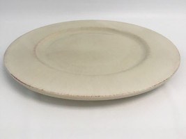 """Pier 1 Toscana Ivory Plate Only 13 1/4"""" Round Handpainted Earthenware Italy - €31,79 EUR"""