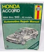 Honda Accord 1984 to 1989 Repair Manual Haynes - $8.00