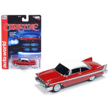1958 Plymouth Fury Christine 1/64 Diecast Car Model by Autoworld AW6401 - $26.90