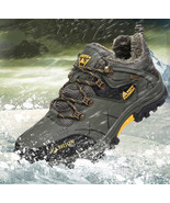 Mens Shoes Winter Boots Waterproof Men Snow Boots Lace Up Men Ankle Boots - $68.79
