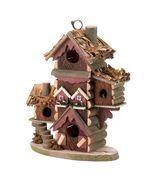 GINGERBREAD STYLE BIRDHOUSE Garden Yard Multi-Level Bird Condo - $22.31