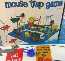 Original Mouse Trap Game Blue Mouse Playing  Piece Ideal 1963 Clean No Damage - $2.96
