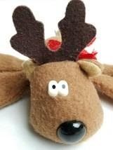 Hallmark Rodney reindeer plush bean bag Christmas stuffed animal 9 inche... - $11.39