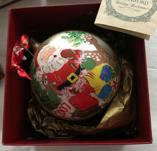 Waterford Holiday Heirlooms Christmas Ornament Dated 2007 Santa Ball - $67.62