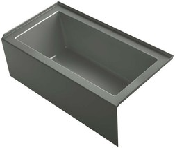 KOHLER Apron Front Bathtub 60 in. 68 Gal. Water Capacity Right Drain Acrylic - $972.51