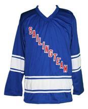 Custom Name # SailingTeam Retro Hockey Jersey New Blue Lil Boat #69 Any Size image 1