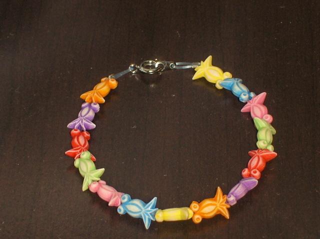 Goldfish Bracelet Handcrafted Colorful
