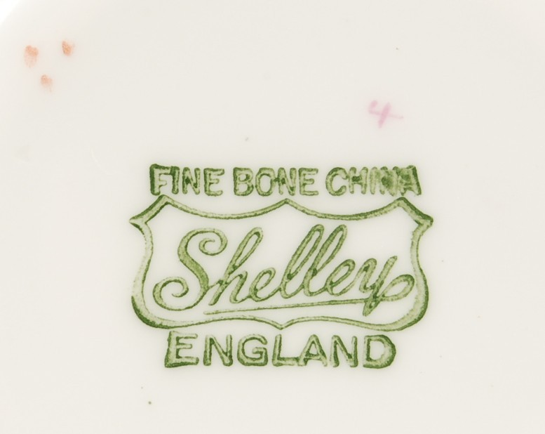 Shelley Green Iris Saucer Dainty Shape Gold Trim Used