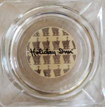 "Holiday Inn 4"" x 3/4"" Clear Square Ashtray - $5.95"