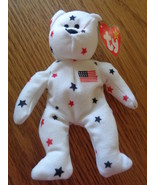 Ty Teenie Beanie Babies Glory The Bear 1993 4th Of July McDonalds Toy - $5.97