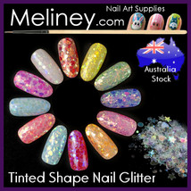 Tinted Shapes Glitter Nail art Confetti Decorations Manicure Party decals - $3.44+