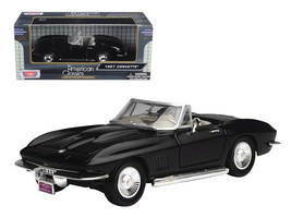 1967 Chevrolet Corvette Black Convertible 1/24 Diecast Car Model by Moto... - $31.66