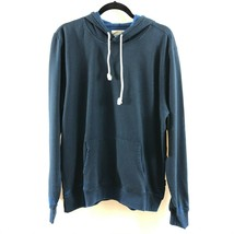 Threads 4 Thought Mens Hoodie Fleece Lined Pullover Navy Blue Pockets L - $24.18