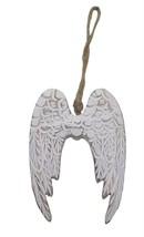 angoissé en bois ailes d' ANGE BLANC BRUN Décoration Tenture 14.5x10.5x1... - $6.11