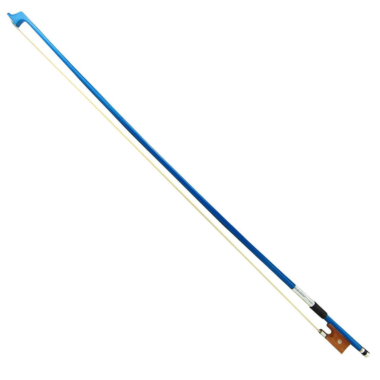 4/4 Size Blue Stick Violin Bow for Student, Beginner, Starter, Adult