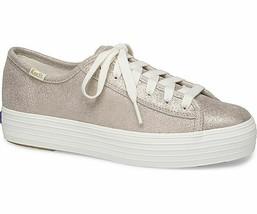 Keds Womens Triple Kick Glitter Suede Sneakers Champagne - $49.00