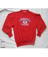 Nebraska Cornhuskers Red NCAA Football Sz Large Sweatshirt  - $17.99