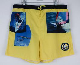 VTG Ralph Lauren Chaps Windsurfing Club Swim Trunks Shorts Men's Size XL Yellow - $19.99