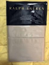Ralph Lauren RL 624 Cotton Sateen Standard Pillowcases Vintage Silver NEW - $47.50