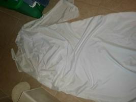 adult Roman Greek Toga Halloween costume 1 sz white euc - $9.88