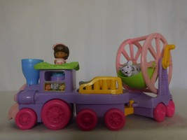 Fisher-Price Little People Musical Animal Zoo Train Pink Working sounds rare - $23.79