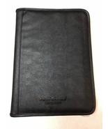 Executive Conference Folder Portfolio Zipped Folio Leather Organizer Bla... - $12.59