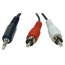Tripp Lite 3.5mm Stereo To 2 Rca Audio Y-splitter Adapter (12ft) TRPP314012 - $14.30