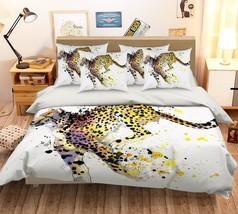 3D Leopard Paint 236 Bed Pillowcases Quilt Duvet Single Queen King US Summer - $102.84+