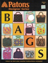 Bags Learn to Knit & Crochet Patons Designer Series Booklet DD 500201 2004  - $6.92