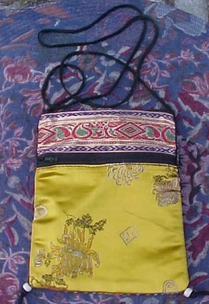 Oriental shoulder bag yellow