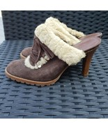 Gianni Bini Brown Faux Fur Slip On Heels - Size 8 - $22.99