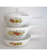 Corning Ware Spice of Life Menu-Ette Set Pyroceram P-83-B USA - $35.00