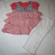 Calvin Klein 24M Baby girls 2 pc set Dress pants leggings 3702178-99 NWT *^ - $19.05