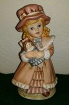 "Vintage 6"" HOMCO Porcelain Girl w Doll Figurine #1419 - $10.76"