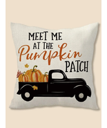 halloween Pillow cover, Pumpkin Print Cushion Cover Without Filler, Fall... - $12.70
