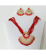Red seedbead necklace set - $18.99