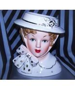 Rare Ucagco large 6 Vintage Head vase Japan Lady Headvase Gibson Girls Big Bow - €639,89 EUR