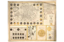 The Geography of The Great Solar Eclipse of 1748, Antique Astronomical Map - $26.72+