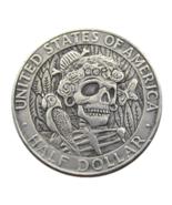 FK(08) Hobo 1964 Kennedy Silver Half Dollar skull zombie skeleton Copy C... - $7.99