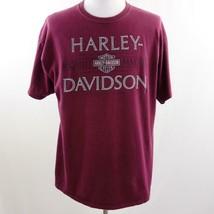Harley Davidson 1903-2015 Maroon Savannah GA Graphic T Shirt, Mens Sz XL - $28.93