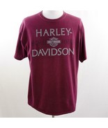 Harley Davidson 1903-2015 Maroon Savannah GA Graphic T Shirt, Mens Sz XL - $28.93