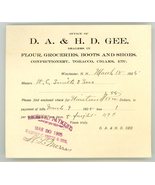 Gee Winchester New Hampshire vintage 1905 invoice tobacco boots shoes candy - $8.00